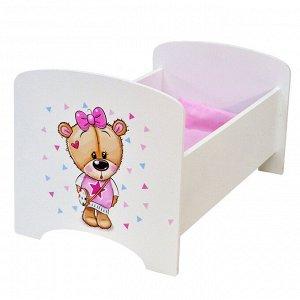 Кроватка для куклы Мишутки.Кокетка МК01К