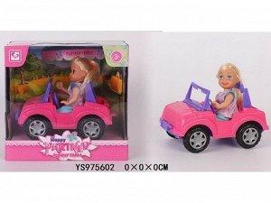 Кукла малышка 899-102K на машине в кор.