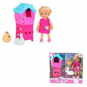 Кукла малышка 899-94K с питомцами в кор.