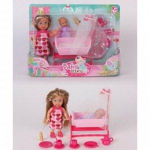 Кукла малышка 899-96K с ребенком и аксесс. в кор.