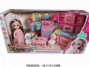Кукла 3-YQLD кухня в кор.