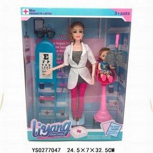 Кукла 517-ALY Врач окулист с пациентом в кор.