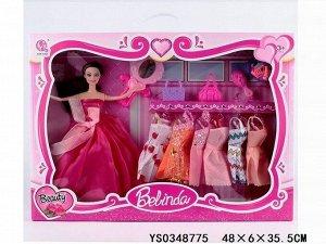 Кукла 61123C с набором платьев и аксесс. в кор.