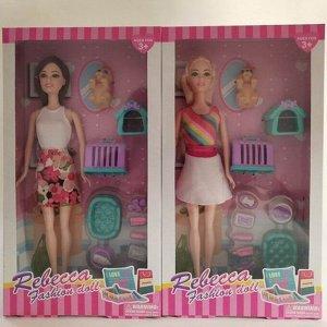 Кукла 8808С Rebecca с питомцем и аксесс. в кор.
