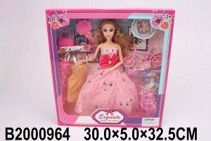 Кукла 603-3 с платьями в кор.