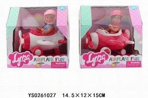 Кукла малышка 4609 Lyna в самолете в кор.