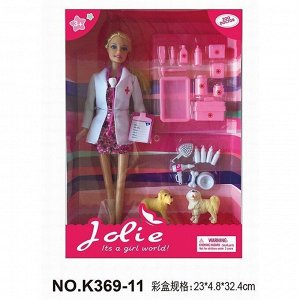 Кукла 369-11К с аксесс. в кор.
