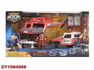 Набор Пожарный 3102-23D техника и солдаты в кор.