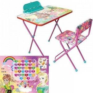 Набор мебели д/детей Принцессы цвет в ас-те КМ3/72П GALAXY