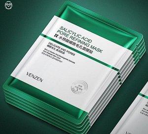 Тканевая маска с салициловой кислотой для очищения пор Venzen Salicylic Acid Acne Oil Control Mask