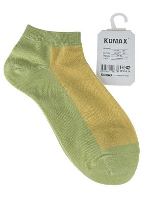 Короткие женские носки, цвет салатовый с жёлтым