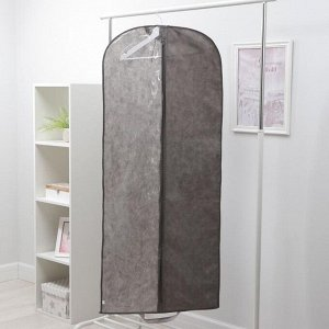 Чехол для одежды, 60?140 см, спанбонд, цвет серый