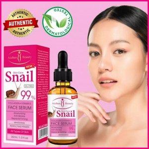 Aнтиоксидантная сыворотка Aichun Beauty 99% Snail Face Serum с добавлением коллагена и витамина E 30 мл
