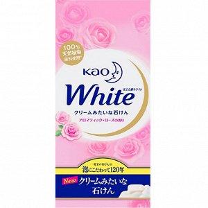 "232373 KAO ""White Aroma Rose"" Кусковое крем-мыло с ароматом роз, 6*85гр"