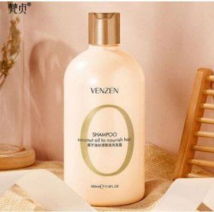 Питательный шампунь для волос VENZEN Coconut Oil To Nourish Hair с кокосовым маслом и витамином Е 500мл