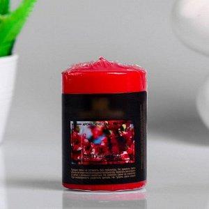 """Свеча - цилиндр ароматическая """"Цветущий сад"""", 5,6х8 см"""