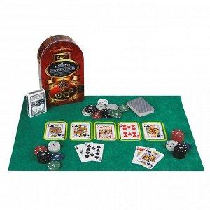 Набор для покера в жестяном боксе