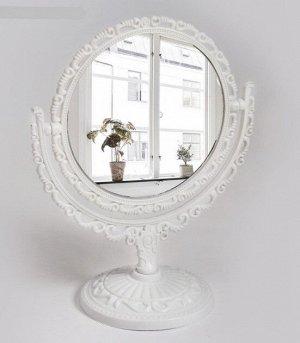 Зеркало настольное «Ажур», двустороннее, с увеличением
