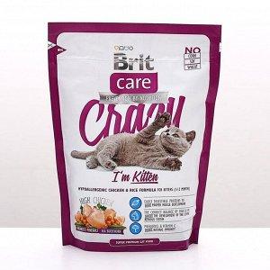 Сухой корм Brit Care Cat Crazy Kitten для беременных, кормящих кошек и котят, 400 г