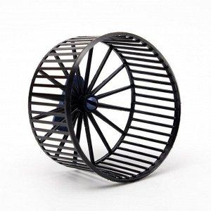Колесо для грызунов пластиковое, без подставки, 9 см, чёрное