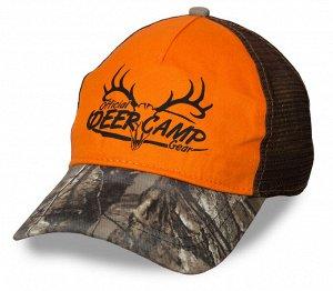Яркая бейсболка Deer Camp – камуфляжный козырек, сетка для улучшенной вентиляции, правильное сочетание цветов №391