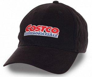 Черная унисекс ПРОМО бейсболка с логотипом крупнейшей в мире компании Costco Wholesale® - традиционная модель на каждый день №193 ОСТАТКИ СЛАДКИ!!!!