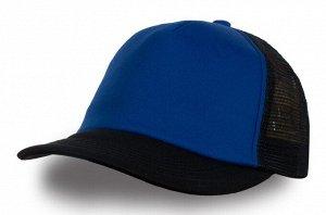 Чёрно-синяя бейсболка №326
