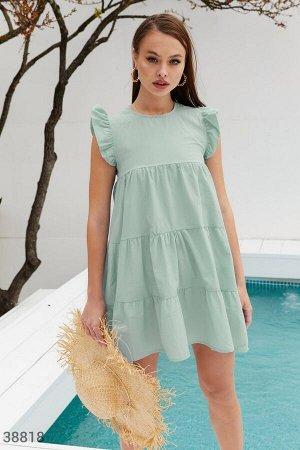 Хлопковое платье оливкового цвета
