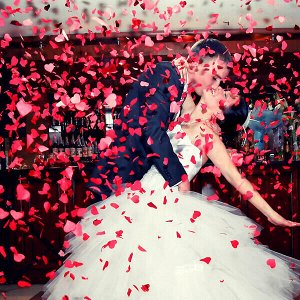 30см Пневмохлопушка Свадебная