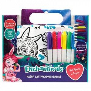 """Набор для творчества Enchantimals """"Бри и Твист"""", сумка для раскрашивания, маркеры, ORIGAMI, 03444, 4018"""