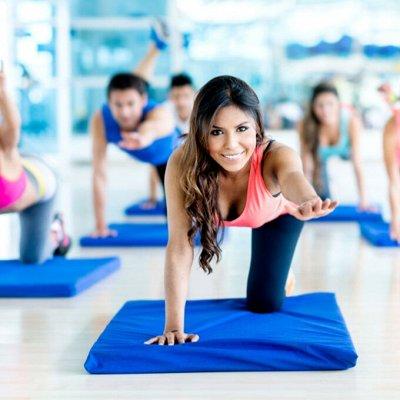 Коврики для йоги, утяжелители, гантели и многое другое