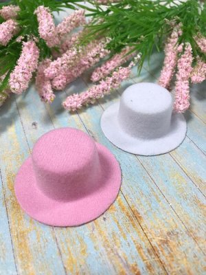 Декоративная шляпка  6 см фетр