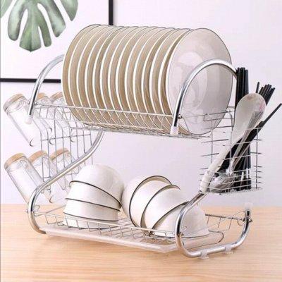 🥑Секреты Настоящей Хозяюшки! Товары для дома — Двухуровневая настольная сушилка для посуды