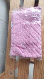 """Полотенце махровое для ног """"Ножки"""". 50*70 Светло-розовый"""