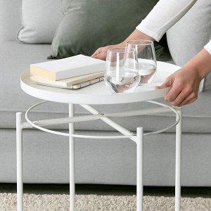 GLADOM ГЛАДОМ Стол сервировочный, белый45x53 см