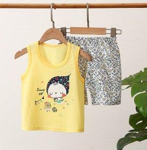 """Детский костюм (шорты+майка), принт """"птички"""""""
