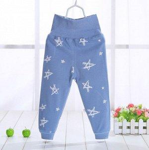 """Детские штаны, принт """"звезды"""", цвет синий"""