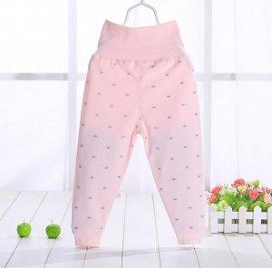 """Детские штаны, принт """"короны"""", цвет розовый"""