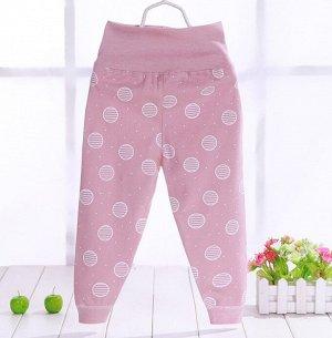 """Детские штаны, принт """"планеты"""", цвет розовый"""