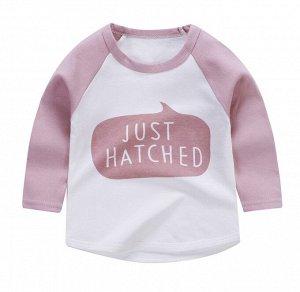Детская кофта с надписью, цвет розовый/белый