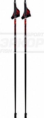 Палки для скандинавской ходьбы STC Extreme Red стеклопластик ручка 2-х компон пластик капкан (x2)