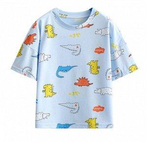 """Детская футболка, принт """"динозавры"""""""