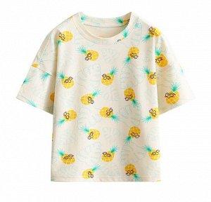 """Детская футболка, принт """"ананасы в очках"""""""