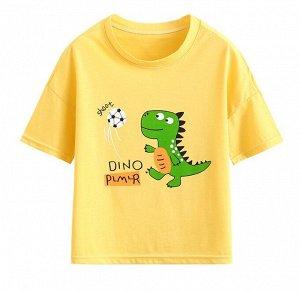 """Детская футболка, принт """"динозавр футболист"""""""