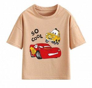 "Детская футболка, принт ""тачки"""