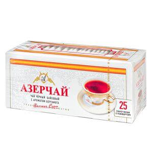 Чай Чай АЗЕРЧАЙ Черный с бергамотом 25 пакетиков с конвертом