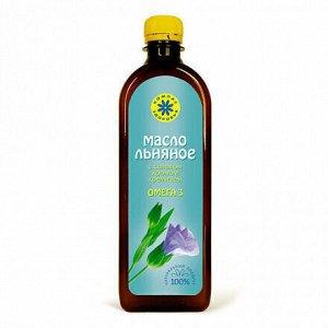"""Льняное масло пищевое с селеном, хромом, кремнием 0,5 л, марка """"Компас здоровья"""""""