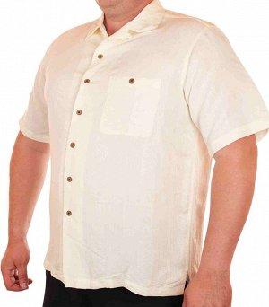 Мужская летняя рубашка Caribbean. Фирменное качество и смесовый материал позволяют НЕ потеть в жару и чувствовать себя комфортно №205 ОСТАТКИ СЛАДКИ!!!!