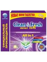 "Таблетки для ПММ ""Clean&Fresh"" Allin1 mini tabs 200 штук"
