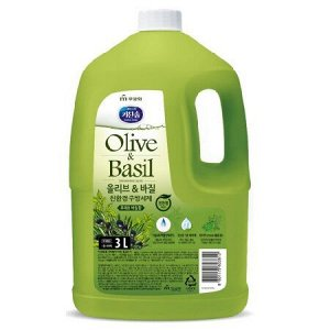 Экологичное средство для мытья посуды, детских бутылочек, овощей и фруктов «Олива и базилик» (с ароматом базилика и душистых трав) 3 л канистра / 4